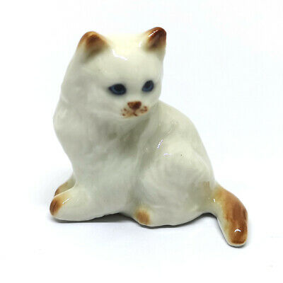 Cute Handicraft Miniatures Collectible Ceramic Porcelain Persian Cat FIGURINE