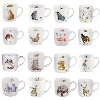 Wrendale Fine Bone China Mugs Sets of 4 - Various Sets and Designs BRAND NEW