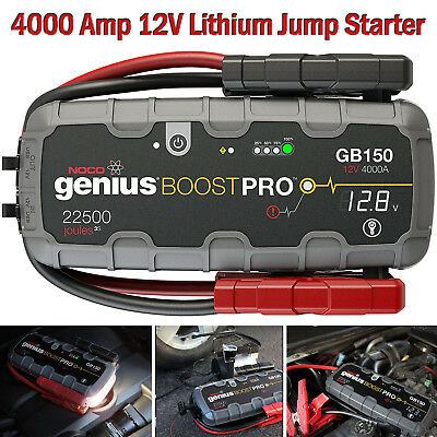 Lithium Jump Starter Portable Battery Booster Pack Charger Power Box 12V 4000 A