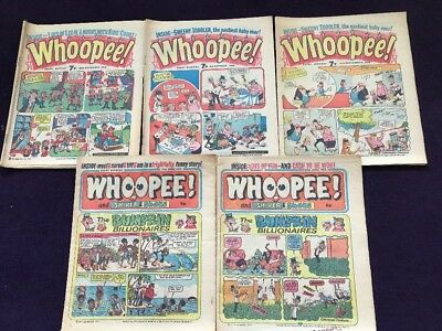 3 WHOOPEE! + 2 WHOOPEE! and SHIVER & SHAKE COMICS from 1970s - 5 Comics Total