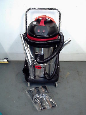 Viper LSU255 55ltr wet/dry vacuum cleaner with stainless steel drum