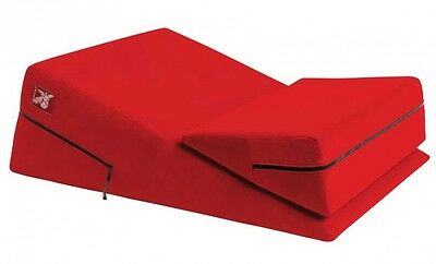 Liberator Wedge Ramp Combo Positioning Pillows - Red Microfiber