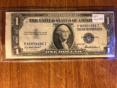 1935 F$1 SILVER CERTIFICATE Miscut Error AND OFF CENTER - $200.00 ...