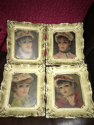 Antique Huldah Framed Print Portraits (4 Prints)