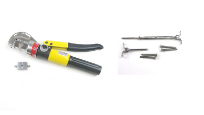 """Hydraulic Hand Crimp Tool & 10pc Stainless Steel Deck Toggle Cable Railing 1/8"""""""
