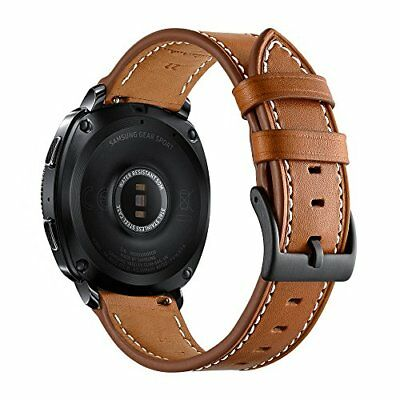 Ticwatch E Band Genuine Leather Replacement Strap Adjustable Metal Buckle Brown