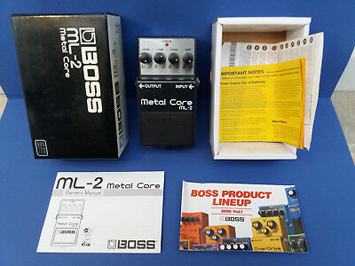 BOSS ML-2 METAL CORE Distortion near MINT Made in Taiwan