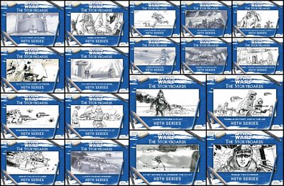 Topps Star Wars Card Trader Hoth: The Storyboards [18 CARD WHITE SET]
