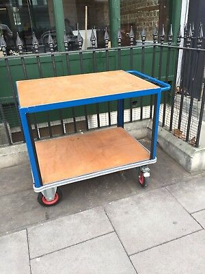 SLINGSBY Heavy Duty Shelf Trolley office industrial warehouse barrow