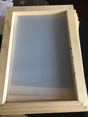 "Three (3) Silk screen printing frames 14"" X 10""(inside 12"" X 8"") with 180 Mesh"