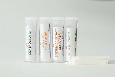 LAB QUALITY Super Taster Strips Test Kit With: Phenylthiourea PTC, Sodium Benz