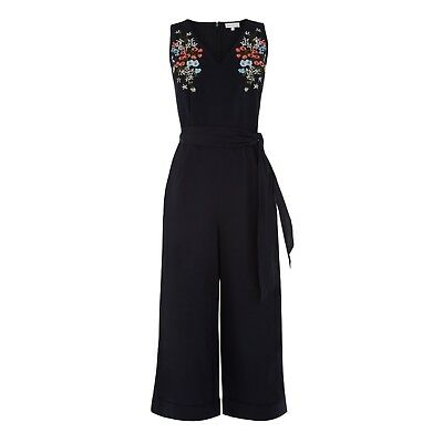 WAREHOUSE Cotton Embroidered Jumpsuit 6/8/10/12/14/16/18 RRP £49