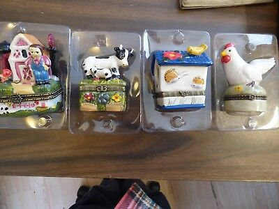 porcelain trinket boxes Country collection 4 with boxes #5