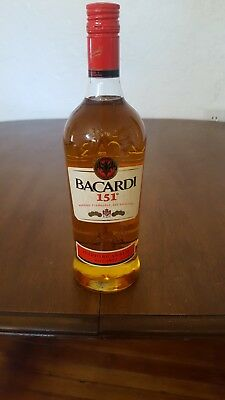 Discontinued Bacardi 151 Rum, 1 Liter (Unopened)!