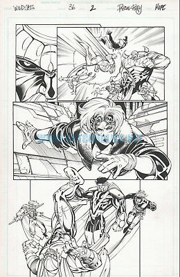 WILDCATS 36 pg 2 original art PASQUAL FERRY & Sandra HOPE
