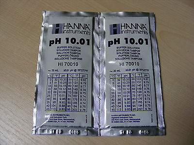 2 X Hanna Ph Solution Calibrage Tampon Evaluation Sachets Haute 70010 10.01