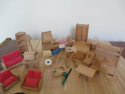 Huge Collection Of Early Learning Centre Dolls House Furniture