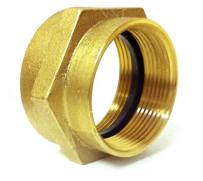 """NNI 2-1/2"""" FEMALE NPT x NST FIRE HYDRANT HOSE BRASS HEX ADAPTER"""