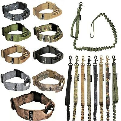 Tactical Dog Collar Handle K9 Military Training Leash Molle Medium Large M - XXL