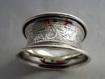 Antique Sterling Silver Napkin Ring Frank Whiting Etching No Mono