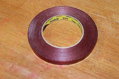 (2) 3M Scotch Strapping Tape Rolls 1/2' wide 60 yards long Red