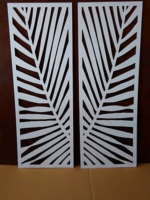 """HOT SALE"" White Palms Decorative Screens 2pk 900x1200"