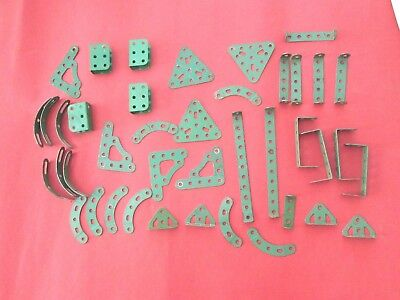 Meccano - Miscellaneous Light Green Parts - Good overall with minimum paint loss