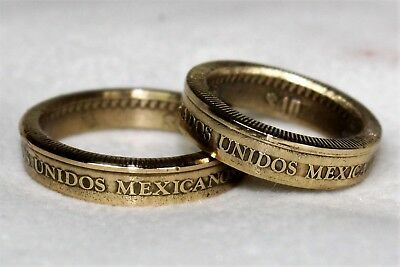 Coin Ring Mexico 10 Pesos Mexico size 4 to 15 With Key Holder