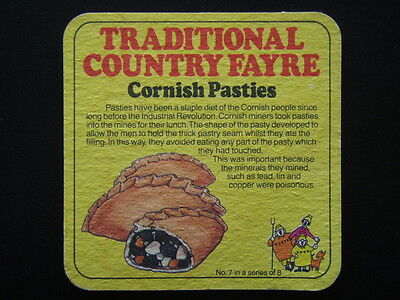 COATES SOMERSET MEDIUM SWEET CIDER CORNISH PASTIES No. 7 IN SERIES OF 8 COASTER