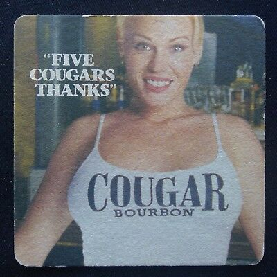 Cougar Bourbon Five Cougars Thanks Coaster (B309)