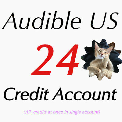 Special Offer Audible 24 Credits single ACCOUNT for 24 audiobooks for US site