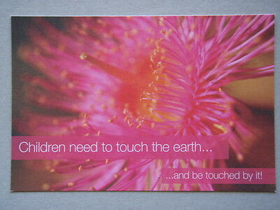 Children Need To Touch The Earth School Community Gardens RBG Vic Postcard