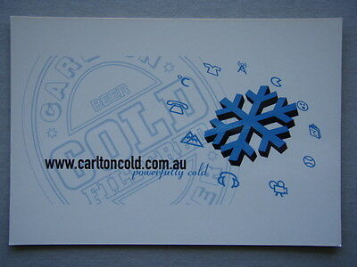 Carlton Cold Filtered Beer Powerfully Cold Advert Postcard