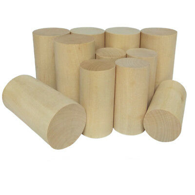Natural Wooden Craft Wood Cylinder Block Toy 30mm - 50mm Diameter Craft Supplies
