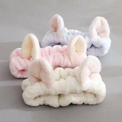 Girls Lovely Cat Ears Headband Hairband Makeup Face Clean Spa Fluffy Hair Band