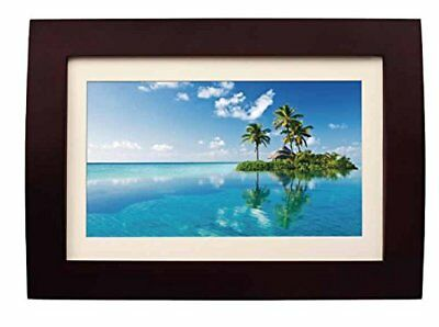 Sylvania SDPF1089 10-Inch LED Multimedia Wood Finished Digital Photo Frame with