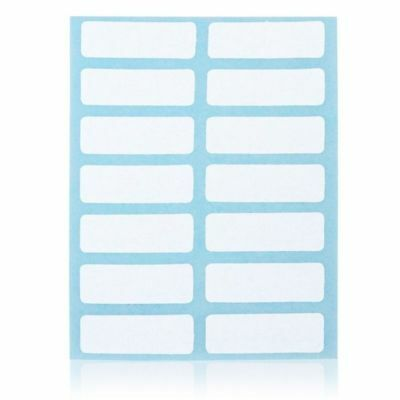12 Sheets White Price Sticker Self Adhesive Labels Blank Name Number Tags Pop