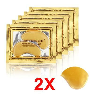 20pcs=10packs 2017 Gold Crystal Collagen Eye Mask Hotsale Eye Patches For The BT