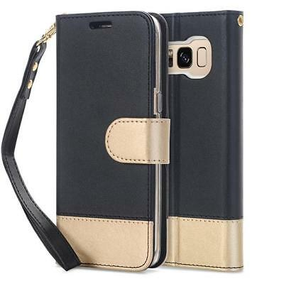 For Samsung Galaxy S8/S8 Plus Case,PU Leather Magnetic Wallet Flip Case Cover...