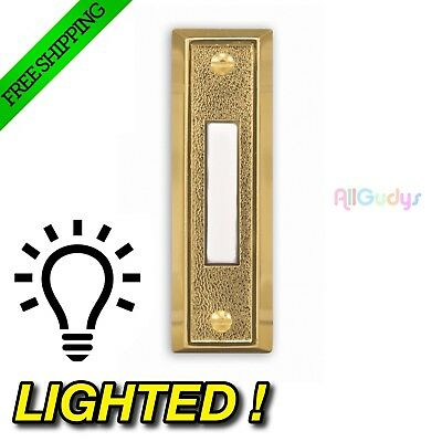 Doorbell Button Brass Color Lighted Wired Door Bell Chime Button