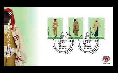 Malta FDC First Day Cover Traditional Costumes Issued 9th February 2018