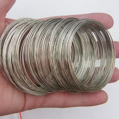 200 Loops Silver Plated Memory Stainless Steel Wire Accessories for DIY