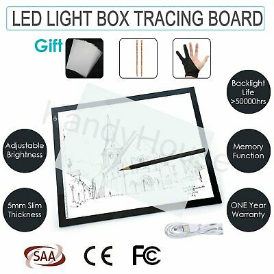 A4 Size LED Light Box Pad Tatoo Tracing Board 5mm Super Slim Graphics Tablet