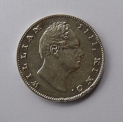 1835 East India Company British Silver 1 Rupee Coin - WILLIAM IIII - Look !!!