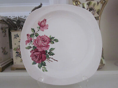 Beautiful Midwinter Stylecraft Pink & Red Roses Cake Or Dinner Plate