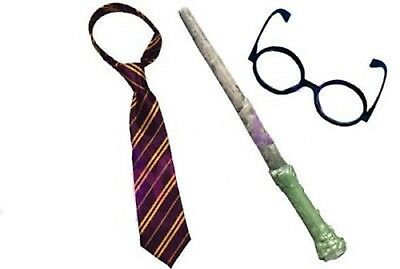 Harry Potter Wand glasses an tie Film Replica dress up costume world book day UK