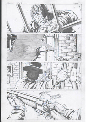 The Good, the Bad and the Ugly 8 pg 4 original comic art by STEVE POLLS