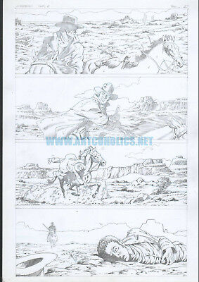 The Good, the Bad and the Ugly 6 pg 2 original comic art by STEVE POLLS