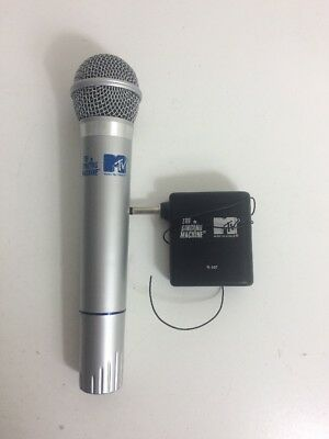 Vintage MTV Karaoke Microphone Wired Grey Stage Music Mic Television Wireless
