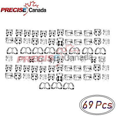 PRECISE CANADA 69 Pcs Endodontic Rubber Dam Clamps Dental Orthodontic Instrument